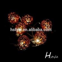 New 2014 Christmas white lights 10 LED yellow ball shape Battery String Light HNL028
