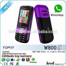 Dual sim card used sim card bar Movil W800