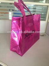 high quality fashion glitter coating non woven bag