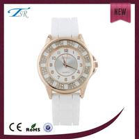 Fashion dress diamond watch women luxury 2014 women silicone watch