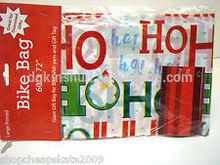 """Holiday / Christmas Bike Bag with yarn and GIft Tag 60"""" x 72"""""""