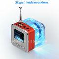Fonte da fábrica nizhi tt029 alto-falante com usb tf rádio fm led colorido de tela