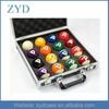 2 1/4 inch aluminium padding flight style carry billiard ball case, ZYD-BR664