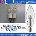 2015 nouvelle ampoule LED E14, led bougie Filament1w3w5w7w, led filament bougie de remplacement,