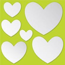 Heart Shape Silver Mirror Acrylic Wall Stickers / Wall Decors / Wall Art