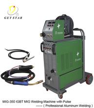 MIG/MAG welder with pulse for welding aluminium MAG-350F