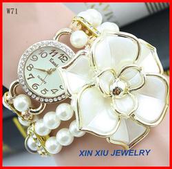 Wholesale elegant new fashion ladies pearl bracelet watch