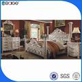 モダンな家具f-8008b熱い販売の設計キングサイズのベッド引き出し付き