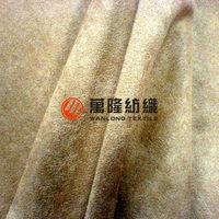100% polyester Short velvet composite faux suede for sofa