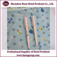 hot seller customized logo hotel advertising twist plastic ball pen