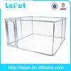 galvanized metal medium dog kennel in rain season