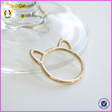 simple designed animal cat shaped rings set solid 925 sterling silver