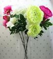 Pas cher gros de fleurs de soie artificielle pivoine fleur pour décoration
