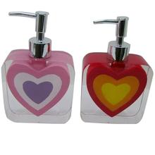 Christmas promotion gift resin heart hand wash liquid dispenser