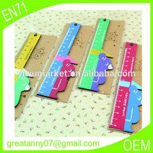 Promotional 6-inch cartoon design branded ruler wooden gifts useful Children wholesale