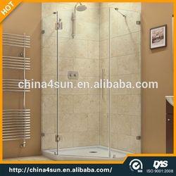 3 side glass outdoor shower room