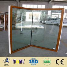 Zhejiang AFOL Good Price Brown Window China Doors and Windows for Hotel