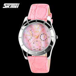 Alibaba Express 30 Meters Waterproof New Fashion Girl Casual Patterns Cute Leather Watches,Wholesale Wristwatch