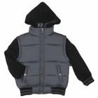 grey padded hoody child winter jacket