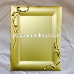 Gold square souvenir blank plate