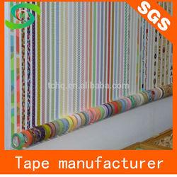 Made in China wholesale self adhesive printed washi masking tape