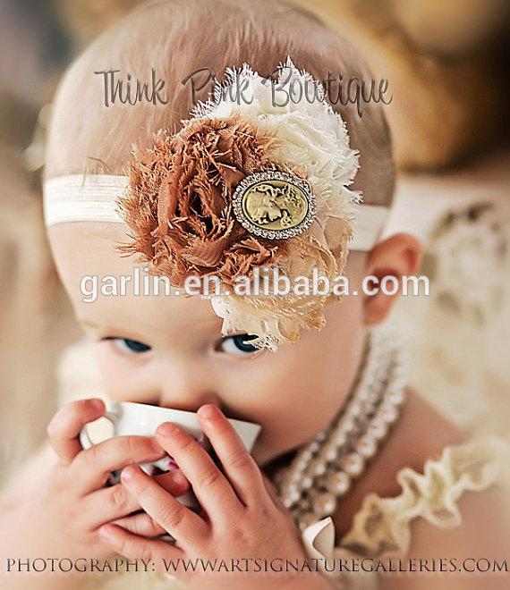fantezi iyi quaity bebek çiçek tığ saç bandı