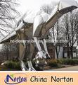 Dinosaurio de gran tamaño de acero inoxidable de la escultura de los animales nts-283