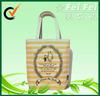 New design canvas stripe printing handbags for shopping 2014
