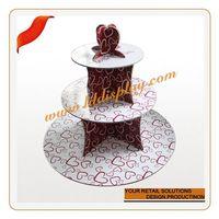 Customized christmas santa ceramic cake stand decorative plastic plates