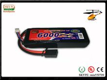 22.2v 6s1p 65C nano-tech RC recharge lipo battery pack for UAV with Original factory