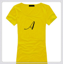 Ladies t shirt printed plain blank t shirt women