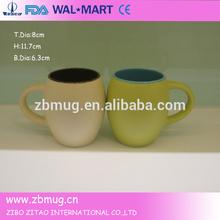 14OZ hot color glazed belly shape mug ceramic drinkware