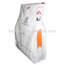 Flat bottom side gusset bag with side handle and slider zipper