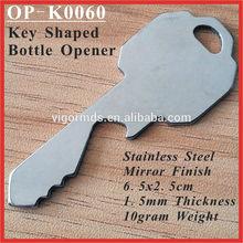 (OP-K0060) Stainless Steel Key Shaped Mirror Finish Bottle Opener