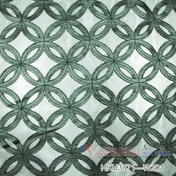 Tulle mesh leather laser cutting embroidery fabric
