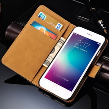 Luxury popular brand 3 in 1 wallet style genuine leather cell phone case for Iphone 6 +