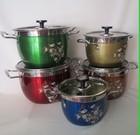wholesale colorful cookware sets couscous stock pot
