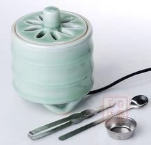 Bamboo Joint Longquan Celadon Electric Incense Burner Electric Wax Tart Warmers Wholesale