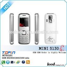 Dual sim card used sim card quadband cellphone Mini5130