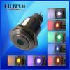 FLM16SS-ZF11-D 16mm latching 6v Green led Brass dot illuminated pushbutton switch