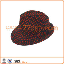 Fashion cheap wool fedora hat woman