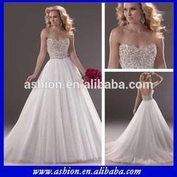 WE-1788 Union fashion wedding dress with stone wedding dress manufacture china