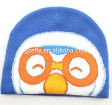 custom sport football club jacquard acrylic knitted baby winter hat