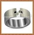 baixo preço da alta qualidade grande tamanho do dedo cz anel de casamento titanium