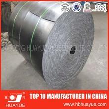 CC56 cotton canvas fabric industrial black flat conveyor belt