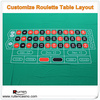 100% Polyester Customize Waterproof and Non Flammable US Style Roulette Layout