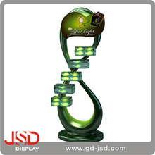 Unique design DNA shape modern glass jewelry display cabinet/deorative display cabinet