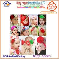 MOQ 100/mix 4 design flower plastic hair clips headbands