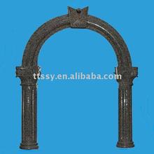 Black stone window frame