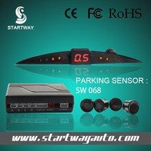 car reverse backup radar led display 4 parking sensors sound alert system